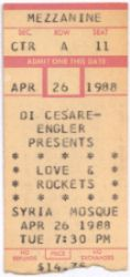 ticket from first concert