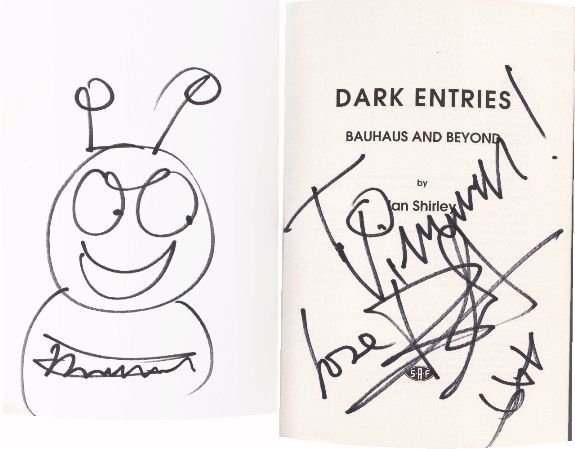 Danny's autograph and Bubbleman drawing